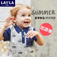 lavla童装 夏季新款男童女宝宝短袖打底T恤儿童夏季POLO衫
