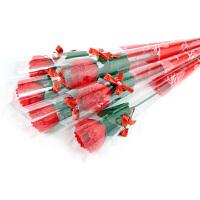 10支蝴蝶结康乃馨香皂花--红色