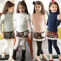 *童装卫衣女童冬装加绒加厚打底衫 女款高领上衣保暖衣3-8岁
