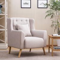 布艺单人沙发现代欧式沙发酒店书房老虎椅沙发时尚简约小户型沙发