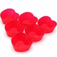 法克曼烘培工具蛋挞模具 硅胶蛋糕模具 6件装 红色 心形5236081
