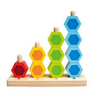 Hape数字堆堆乐1-6岁串珠分类儿童木制益智玩具婴幼玩具木制玩具E0504