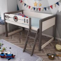 北欧床半高床带护栏多功能组合床小孩床单人床衣柜床一体 1200mm*1900mm 带