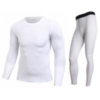 男士运动紧身衣套装2018年秋冬户外健身跑步训练服弹力紧身裤
