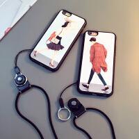 新款苹果6手机壳带挂绳iphone6splus软硅胶5se全包防摔4.7保护套新款苹果6手机壳带挂绳iphone6s plus软硅胶6s全包防摔4.7保护套