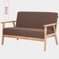 北欧简易单人双人三人沙发椅布艺出租房小户型简约现代日式网红款