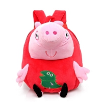 书包幼儿园小孩1-2-3岁男女宝宝小猪妹佩奇玩偶毛绒双肩背包