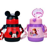 迪士尼宝宝带吸管杯保温杯1-2岁儿童防摔水壶3幼儿园小孩婴儿水杯