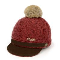 毛呢宝宝鸭舌帽儿童棒球帽韩版男女童保暖大球帽马术帽