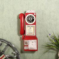 【新品特惠】欧式复古做旧电话机壁挂创意家居壁饰挂饰餐厅咖啡厅店铺墙面装饰