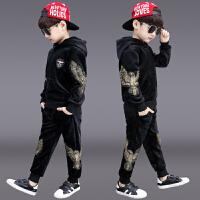 儿童洋气男孩帅气衣服运动两件套潮童装男童冬装套装