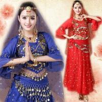 肚皮舞演出服2018新款 印度舞蹈服装演出 天竺少女服装表演服 均码