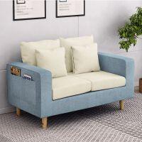 简约现代客厅实木沙发床宜家家居双人布艺懒人沙发旗舰家具店