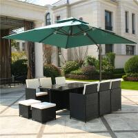 户外桌椅九件套台庭院露台休闲室别墅花园创意藤编家具组合