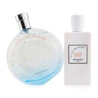 爱马仕 Hermes 蓝色橘彩星光香氛套装:淡香水喷雾 100ml/3.3oz + 保湿身体乳 80ml/2.7oz 2