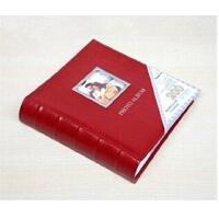 广博相册 高档彩色仿皮面开框4D200张纸芯带记事相册3色 28524B