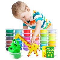 儿童玩具女孩黏土套装24色粘土彩泥橡皮泥太空泥