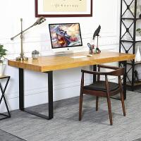 书桌书房时尚简易台式电脑桌钢木桌家用实木学生书桌简约办公桌长桌写字台创意简约办公