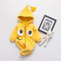 婴儿连体衣服宝宝新生儿春冬0岁3个月春装6满月1外出服套装