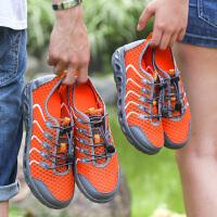 夏季情侣户外溯溪鞋男女鞋网面透气徒步登山鞋防滑速干涉水两栖鞋