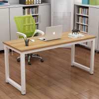 简易电脑桌台式桌家用钢木书桌写字台学习桌子现代简约电脑办公桌