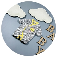 新生儿衣服春秋纯棉婴儿连体衣0-3个月5男女宝宝开衫爬爬服潮卡通