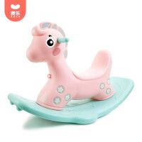 澳乐儿童摇摇马塑料婴儿小木马摇马大号加厚1-2周岁礼物宝宝玩具 森林摇摇马
