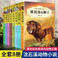 沈石溪动物小说全集8册 全套系列正版雪国狼王 被放逐的狮王的书 五六四年级小学生课外阅读书籍选读9-10-12-15岁