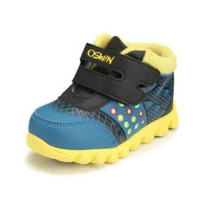 鞋柜SHOEBOX冬款男女童鞋个性时尚魔术贴休闲鞋