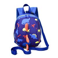 婴儿防走失书包旅行儿童防走丢幼儿背包1-3岁男可爱女宝宝小包包 蓝色 送防走失带子