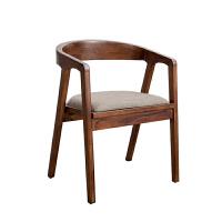 美式乡村实木桌子铁艺现代简约圆桌椅客厅省空间家具餐桌椅组合