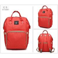 妈咪包袋大容量双肩包女孕妇待产包背包时尚宝妈包母婴外出妈妈包 红色