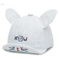 婴幼儿帽子宝宝鸭舌帽翘舌卡通棒球帽棉透气遮阳帽