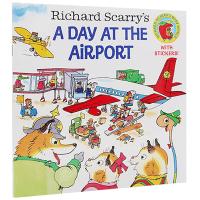 飞机场的 英文原版 Richard Scarry's A Day at the Airport 英文版原版儿童绘本 斯