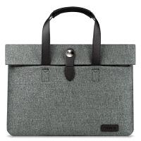 联想笔记本macbook15.6女14寸13.3手提袋air13男学生公文电脑包 深灰色 寸
