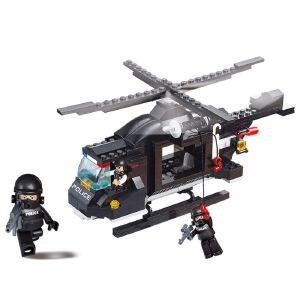 【当当自营】小鲁班防暴特警系列儿童益智拼装积木玩具 特种运输飞机M38-B1800