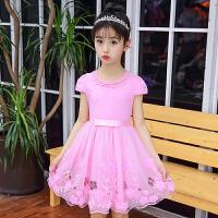 女童洋气裙子夏季2018新款韩版公主裙蓬蓬纱女孩衣服棉短袖连衣裙
