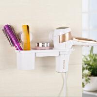 双吸盘电吹风机架子 卫生间浴室置物架 吸盘壁挂风筒架多功能 免打孔 浴室置物架