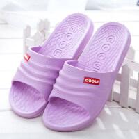 浴室拖鞋女夏季居家室内防滑男情侣塑料洗澡漏水家居厚底凉拖鞋冬 36/37适合35-36的脚