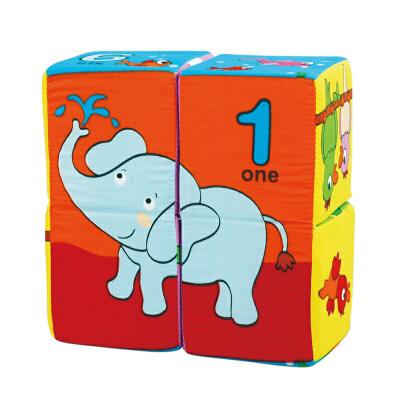 [当当自营]Lalababy 拉拉布书 魔方拼图-数字与动物【当当自营】适合6个月-2岁,提高宝宝逻辑推理能力