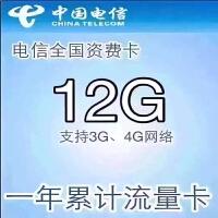 中国电信4G LTE上网卡 全国漫游 12GB流量累计1年
