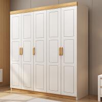 北欧实木衣柜现代简约中式卧室经济型小户型组装组合456门大衣橱