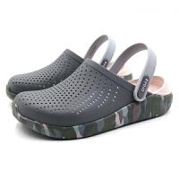 【秒杀价】CROCS卡骆驰拖鞋女沙滩鞋2020夏季新款运动凉拖洞洞鞋|205359 LiteRide图案克骆格