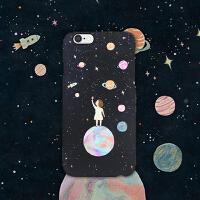 iphone6s/6sPLUS手机壳5se保护套    艺术原创设计  新潮磨砂硬壳  韩国插画设计宇宙星球