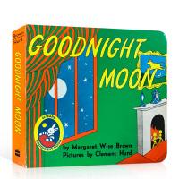 Goodnight Moon晚安月亮 纸板书 60周年纪念版 美国Top 100百本必读读物 吴敏兰 廖彩杏推荐英文原版绘本童书 备受欢迎的晚安故事:向着绿色大房间里的一切一个一个说晚安 送音频