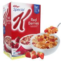 家乐氏 美国进口 Kellogg's香脆麦米片小红莓味 1.2kg 内含2包 低脂即食燕麦片