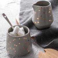 奇居良品 莫纳陶瓷调味罐调味盒瓶带盖收纳罐调料罐盒瓶盐罐装