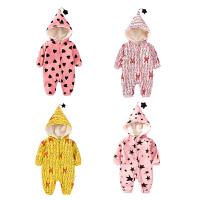 婴儿连体衣服00岁月满月宝宝新生儿衣服冬季外出服卫衣冬装