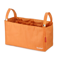 婴儿车挂包收纳袋妈咪包婴儿推车挂钩儿童推车配件挂袋宝宝储物袋 桔色 橙色升级版