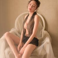 情趣内衣服性感透视装三点式开档小胸睡裙激情夜店制服用品套装